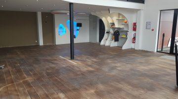 Espace showroom en travaux